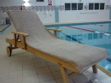 Bana Kuru Chlorine & Sun Resistant -  Full Length Sun Lounger Towel With 30cm Flap 500gsm Mocha